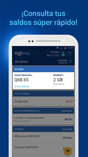 Download Tigo Shop: Consulta y compra Paquetigos prepago For PC 1