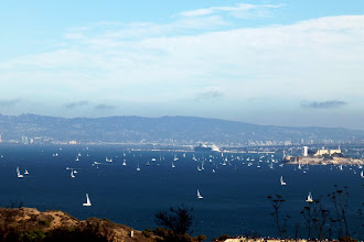 Photo: Lots of sailboats watching the Air Show