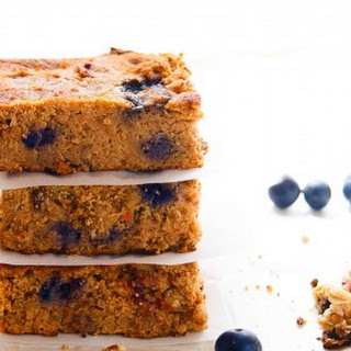 Blueberry Carrot Cake Bars with Granola