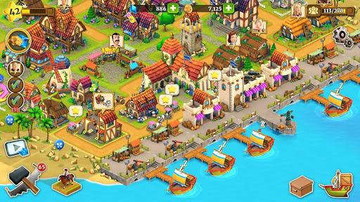Town Village: ferme, commerce, farm, build, city  captures d'écran 5
