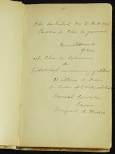 """Photo: Museo - Ejemplar de """"Lo que puede un cura hoy"""" dedicado al Papa Pío X (dedicatoria)"""