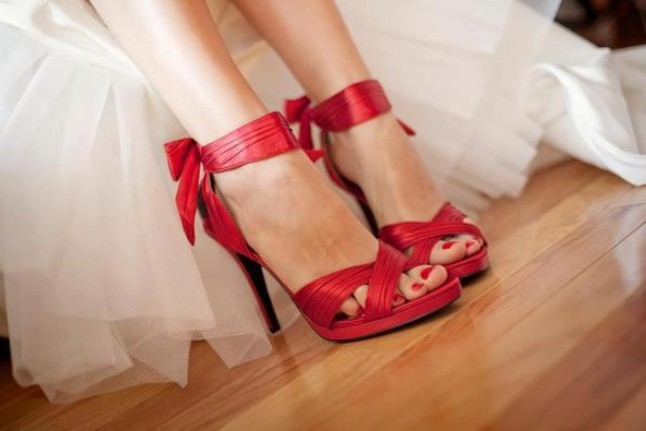 Photo: Nice red shoes to add colour to your day......