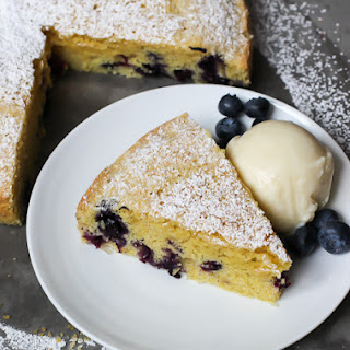 Cornmeal Olive Oil Blueberry Cake