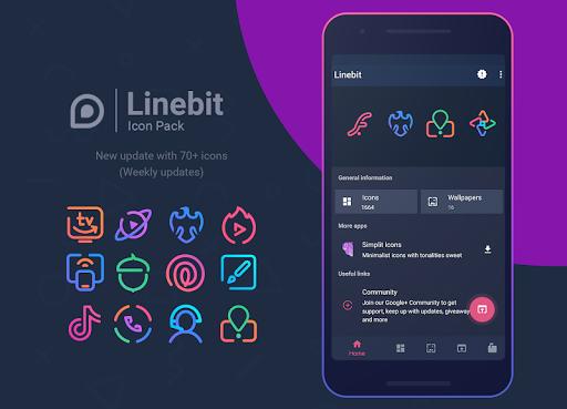 Download Linebit - Icon Pack MOD APK 1