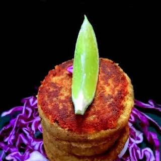 Mughlai Lamb Shami Kebab.