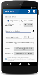 Schulden-Manager Pro Screenshot