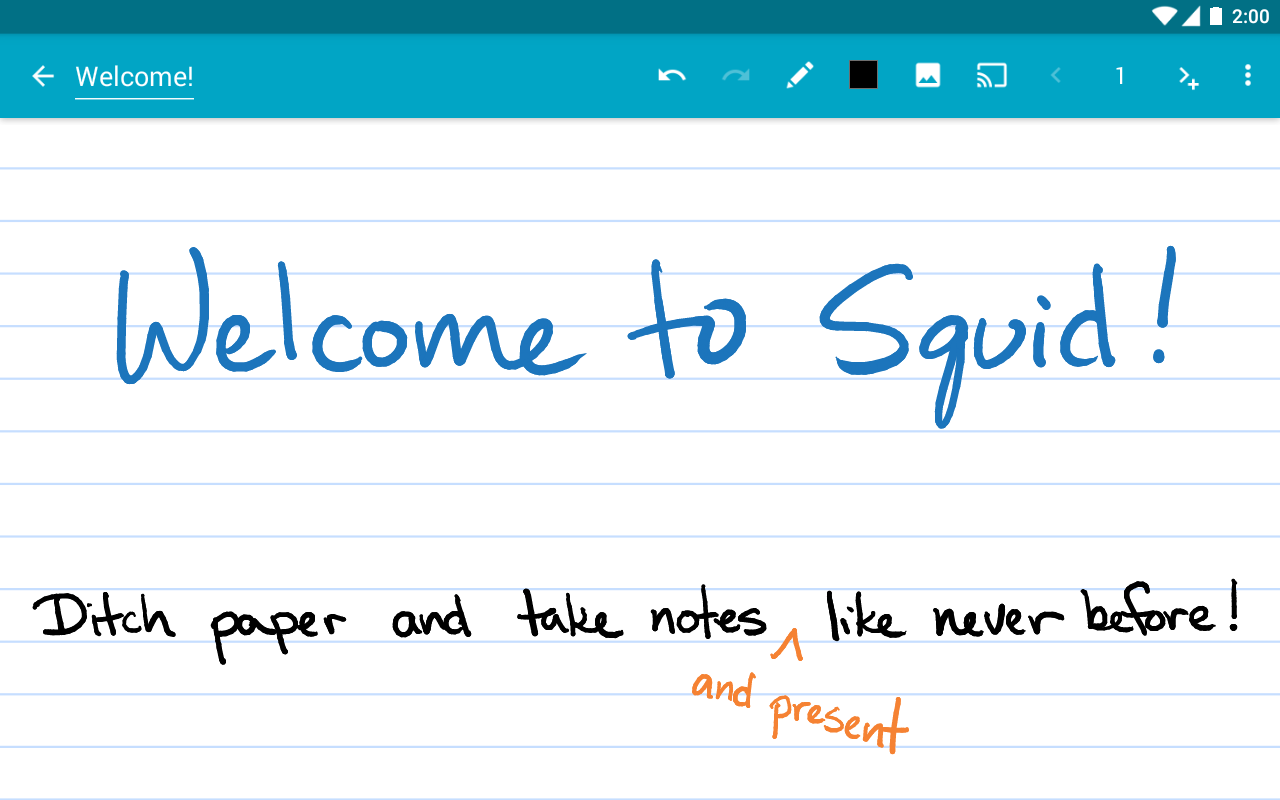 Squid: Take Notes, Markup PDFs: captura de pantalla