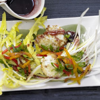Dandelion Salad with Goat Cheese Croutons