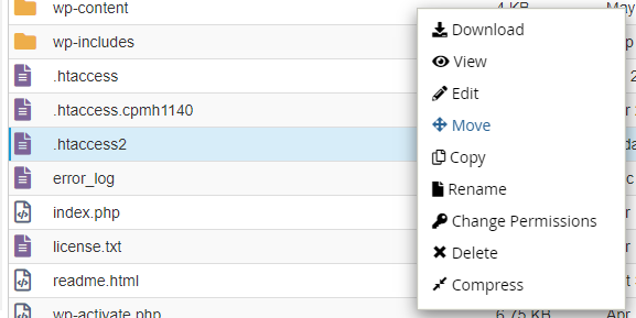 Edit htaccess file in cPanel File Manager