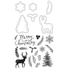 Kaisercraft Dies & Stamps - Merry Christmas UTGÅENDE