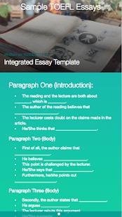 TOEFL Essay Help - Apps on Google Play