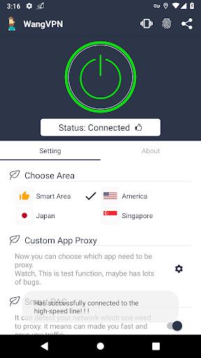 Wang VPN u2764ufe0f- Free Fast Stable Best VPN Just try it 2.2.16 screenshots 2