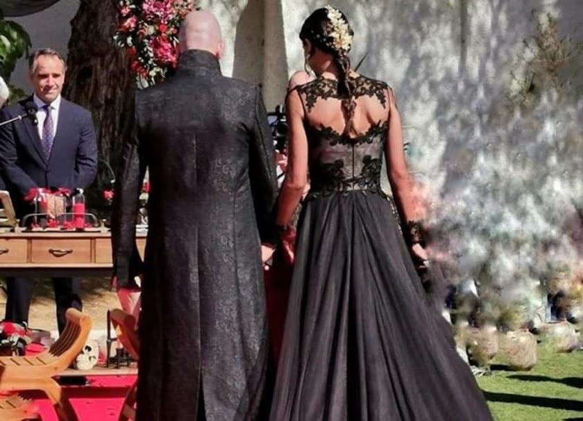 Una boda gótica rockera de lo más original