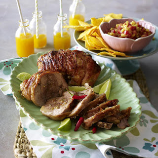 Caipirinha Turkey Thighs with Pineapple and Tomato Salsa