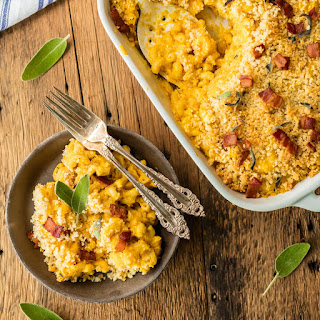 Baked Pumpkin Bacon Mac and Cheese Recipe