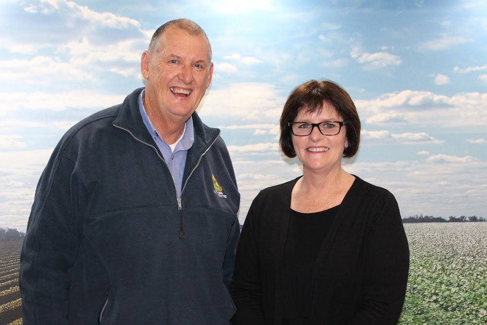 The Rotary Club of Narrabri's Daryl Bartlett with Narrabri Shire Council tourism manager Penny Jobling, recipient of the Pride of Workmanship award at the Rotary changeover function at the RSL Club on Saturday night.