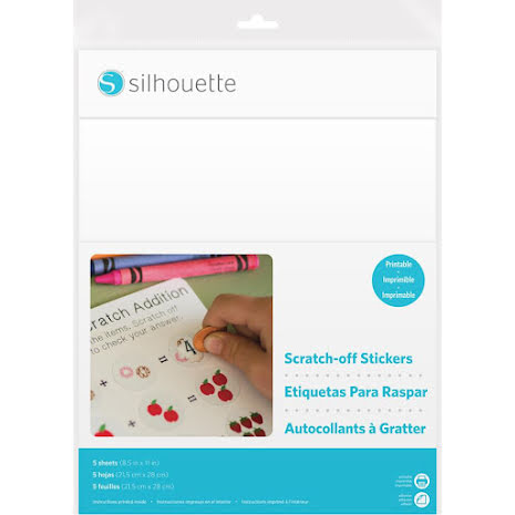 Silhouette Printable Scratch-Off Sticker Sheets 8.5X11 5pk - Printable