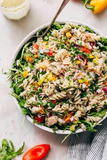 Quick Summer Tuna Pasta Salad Recipe   Little Spice Jar
