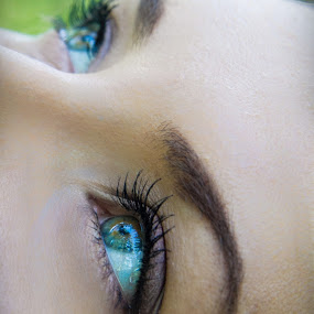 Abyssal Eyes by Mircea Bogdan - People Body Parts ( ocean eye, blue, green, eye )