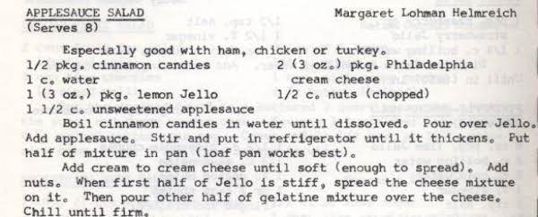 Applesauce Salad Recipe