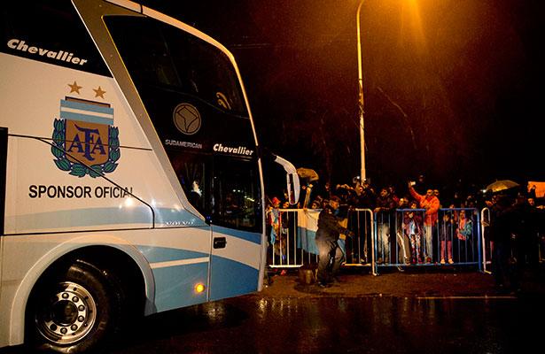 La Albiceleste regresó a Buenos Aires