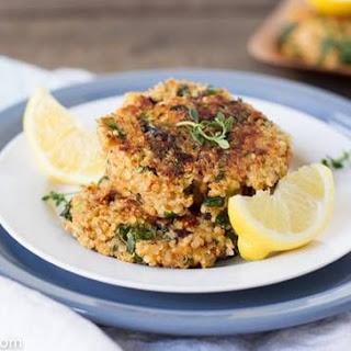 Savory Bite-Sized Quinoa and Kale Patties.