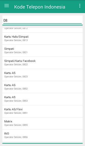 Screenshot 2 Kode Telepon Indonesia