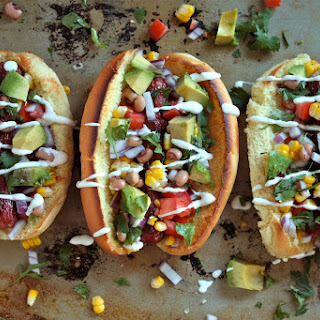 Tex-Mex Hot Dogs.