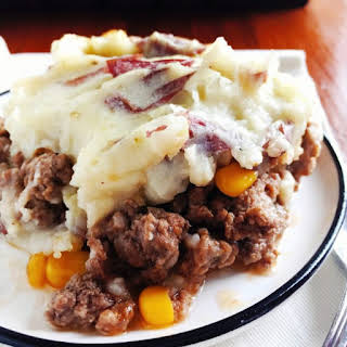 Skins on Mashed Potatoes.