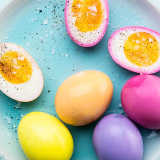 Naturally Dyed Pickled Easter Eggs