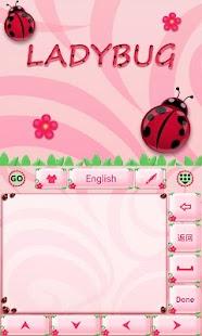 Cute-Ladybug-GO-Keyboard-Theme 4