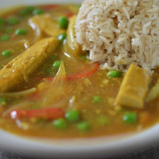 Vegan Curry Chicken.