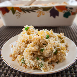 Creamy Tuna Noodle Casserole with Panko Topping Recipe From Scratch