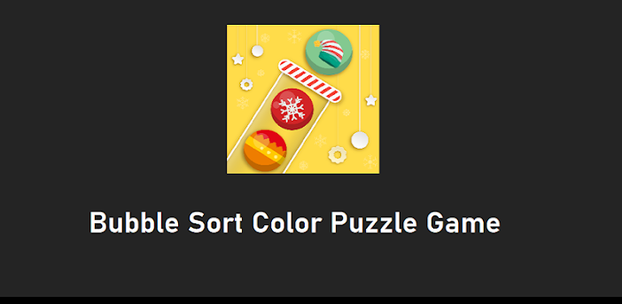 Bubble Sort Color Puzzle Game