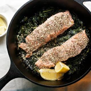 Za'atar Roasted Salmon with Greens