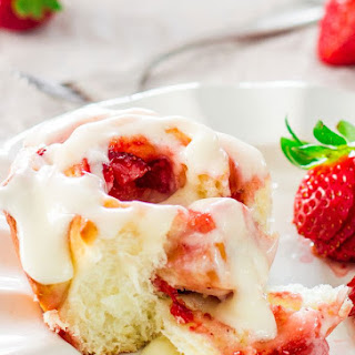 Strawberry Rolls with Cream Cheese Icing.