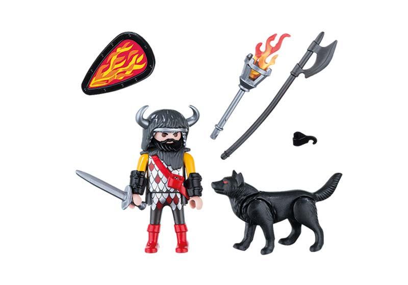 Contenido real de Playmobil® 5385 Guerrero Lobo