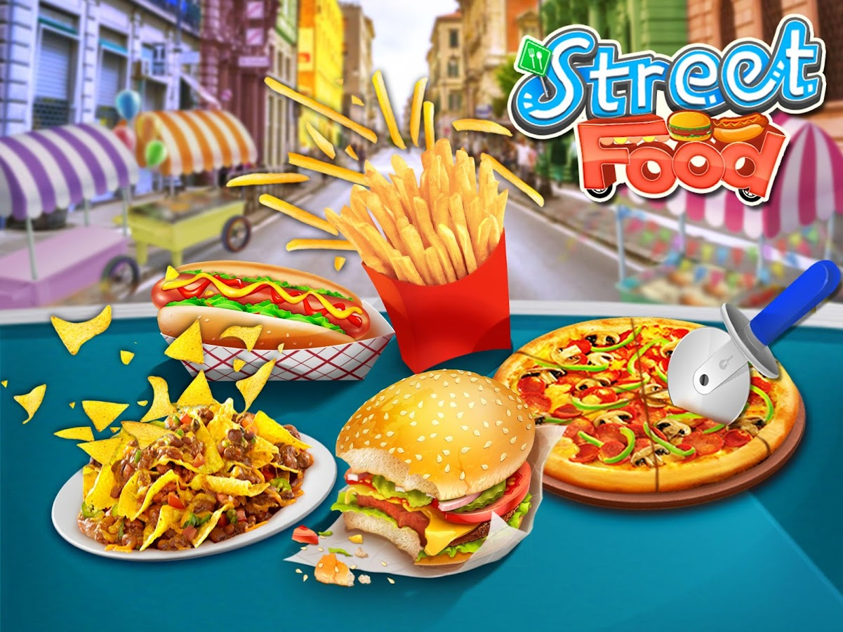 Street Food Stand Cooking Game- screenshot