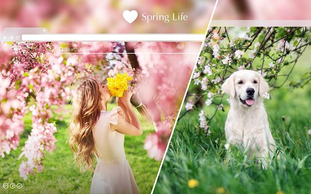Spring Life HD Wallpaper New Tab Theme