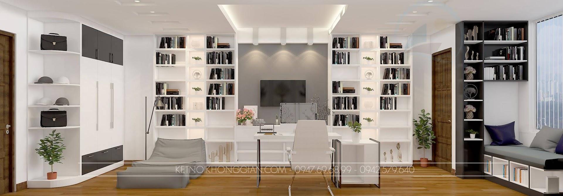 thiết kế phòng đọc sách gia đình 5