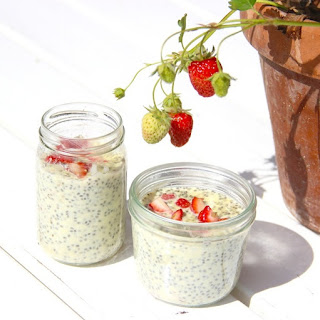 Old Fashioned Strawberry Vanilla Chia Custard