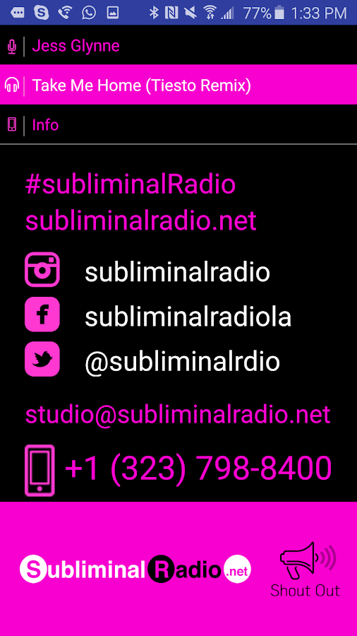 Subliminal Radio- screenshot