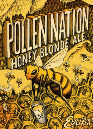 Logo of Evans Brewing Co.- Pollen Nation