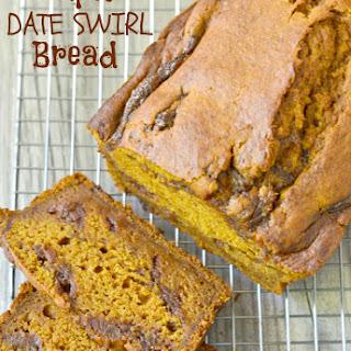 Pumpkin Date Swirl Bread.