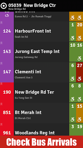 Bus Coming SG Bus MRT Guide