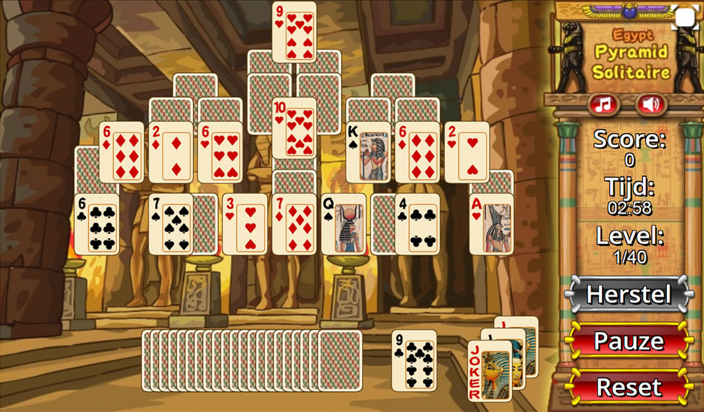 egyptian pyramid card game