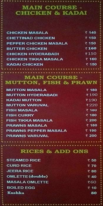 Kareem's Biriyani Paradise menu 5