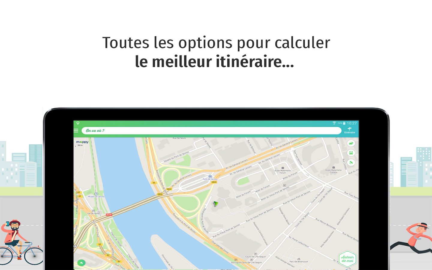 Mappy – Plan, Comparateur d'itinéraires, GPS- screenshot