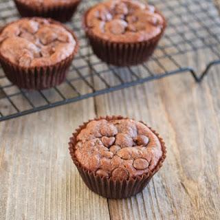 Flourless Chocolate Peanut Butter Muffins.