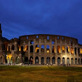 Koloseum by Blaz Crepinsek - Buildings & Architecture Public & Historical ( coloseum, rome, evening,  )